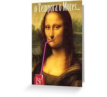 Mona Lisa Cola Greeting Card