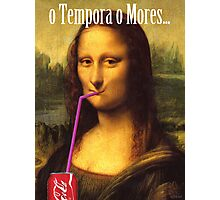Mona Lisa Cola Photographic Print