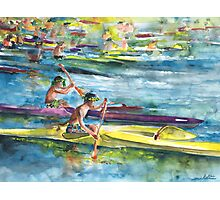 Canoe Race in Polynesia Photographic Print