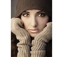Woman in knit Photographic Print