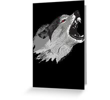 Direwolf Winter Is Coming Greeting Card