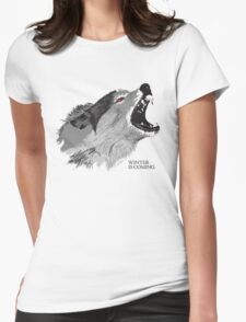 Direwolf Winter Is Coming Womens Fitted T-Shirt