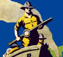 Join The US Marines Corps - Soldiers Of The Sea! Sticker