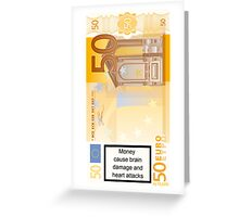 Money caution Greeting Card