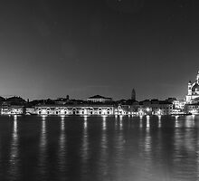 Venice Waterfront in Monochrome by AndrewBerry