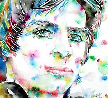 RUDOLF NUREYEV watercolor portrait by lautir