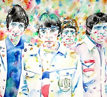 THE WHO - watercolor portrait by lautir