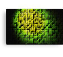 Green Blocks Canvas Print