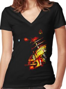 Dalek Beta – Bronze Women's Fitted V-Neck T-Shirt