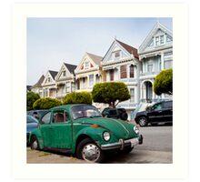 Volkswagen Beetle on Steiner Street Art Print