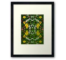 Summer Flowers Reflect Framed Print