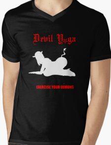 devil yoga for black shirts  Mens V-Neck T-Shirt