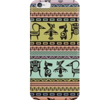 Aztec patterns native tribal animal symbols iPhone Case/Skin