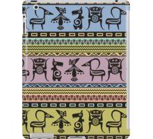 Aztec patterns native tribal animal symbols iPad Case/Skin