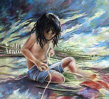 Tahitian Boy with Knife by Goodaboom