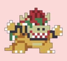 Super Mario Maker - Bowser Costume Sprite One Piece - Long Sleeve