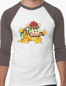 Super Mario Maker - Bowser Costume Sprite Men's Baseball ¾ T-Shirt