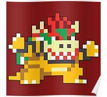Super Mario Maker - Bowser Costume Sprite Poster