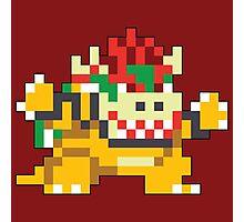 Super Mario Maker - Bowser Costume Sprite Photographic Print