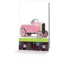 Pink Hot Rod Greeting Card