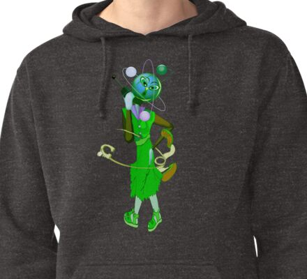 Eco Girl. Pullover Hoodie