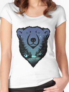 Polar Bear: chillin' Women's Fitted Scoop T-Shirt