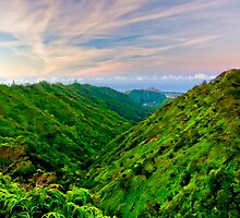 Palolo Valley Sunrise - Honolulu, HI by Silas Leger