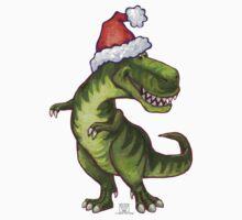 Tyrannosaurus Christmas Baby Tee