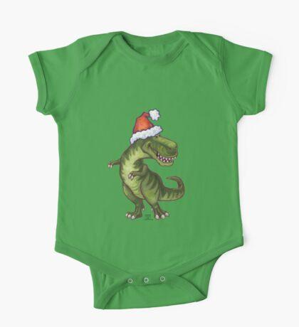 Tyrannosaurus Christmas One Piece - Short Sleeve