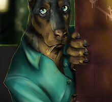 Detective Doberman by Furiarossa