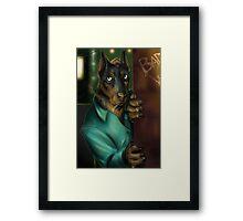 Detective Doberman Framed Print