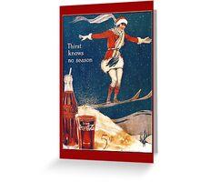 Coca-Cola-Vintage Woman Christmas Greeting Card