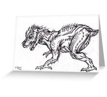 Alien rabbit dragon Greeting Card