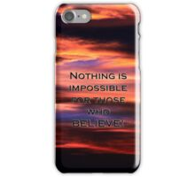 Nothing Impossible iPhone Case/Skin