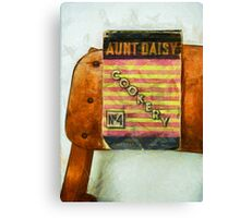 Aunt Daisy's Cookery No 4 Canvas Print