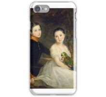 Christina Robertson - Children with a Parrot iPhone Case/Skin