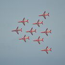 Red Flypast by Andy Jordan