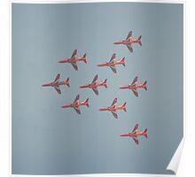 Red Flypast Poster