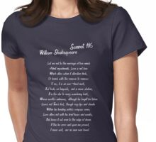 William Shakespeare Sonnet 116 T Shirt Womens Fitted T-Shirt