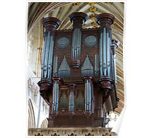 Voice of Thunder - Exeter Cathedral Organ Pipes Poster