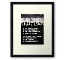 Band of Brothers - Airborne Infantry Framed Print