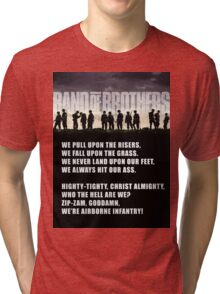 Band of Brothers - Airborne Infantry Tri-blend T-Shirt