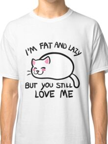 Lazy Cat, White Classic T-Shirt