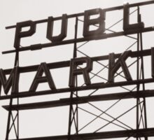 Pike's Place Market Sign Sticker