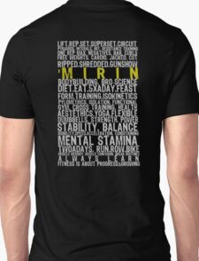 Fitness Words.  T-Shirt