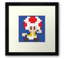 Super Mario Maker - Toad Costume Sprite Framed Print