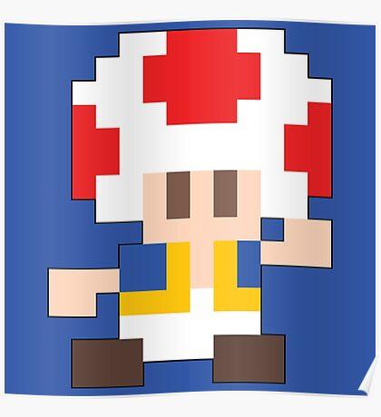Super Mario Maker - Toad Costume Sprite Poster