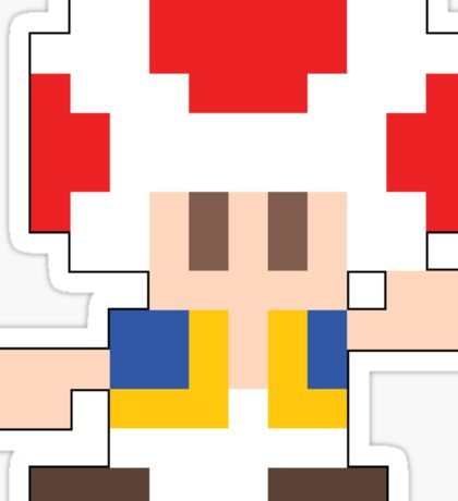 Super Mario Maker - Toad Costume Sprite Sticker