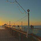 New Years Stroll on Manhattan Beach Pier by Steve Belovarich