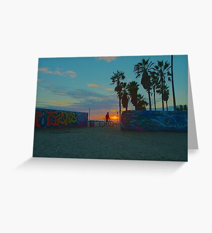 Admiring Graffiti In Venice Beach Greeting Card